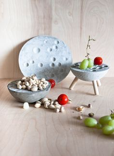 Concrete Platters by Debbie Carlos on www.sightunseen.com