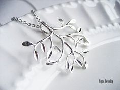 Silver Branch Necklace by NgocJewelry