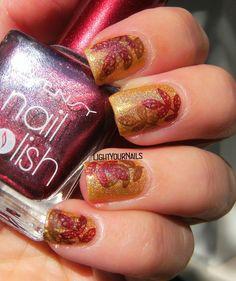 Fall coloured leaves @bornprettystore  #bornprettystore #nailstamping #nailart #nurbesten #lightyournails
