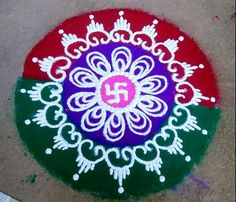 Simple Rangoli Designs for Holi