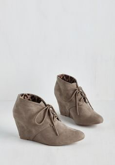 Intern Innovation Wedge. Maintain your position on the cutting edge in these taupe hidden wedges! #tan #modcloth