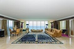 unit 3201 Home decor living room with ocean view and city views #homedecor #Sunnyislesbeach #Condos