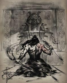 samurai and dragon tattoo Arte Ninja, Ninja Art, Ronin Samurai, Samurai Warrior, Samurai Jack, Samourai Tattoo, Samurai Wallpaper, Samurai Artwork, Bild Tattoos