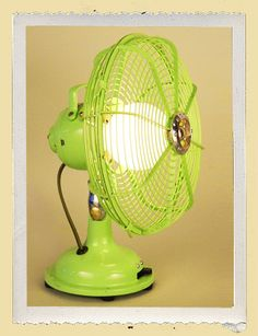 Upcycled Recycled Fan Lamp! Too cool!!