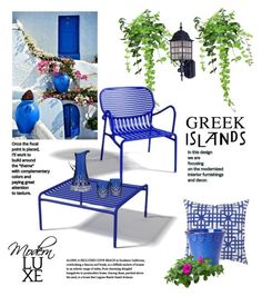 """Greek Islands Patio"" by cruzeirodotejo ❤ liked on Polyvore featuring interior, interiors, interior design, home, home decor, interior decorating, La Mer, Oxyo, Surya and Vietri"