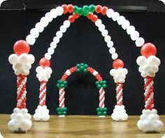 Balloons Decor and More, Taylors — Red white and green candy land sweet treats theme