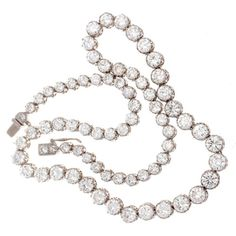 Gift Guide: 10 Over The Top Diamond Gifts - stunning large diamond necklace fine jewelry