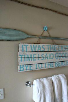 NookAndSea-Beach-Bathroom-Art-Wall-Craft-DIY-Sign-Blue-Oar