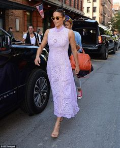 'Growing older is good!' Paula Patton is lovely in lilacas she steps out in New York on Th...