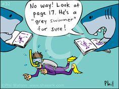 Shark Humor #sharkcartoon Natalie Lenser, DDS | #Modesto | #CA | www.toothfairyteam.com