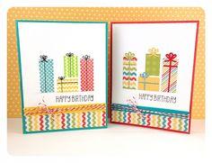 February SOTM Birthday Presents Cards by Taylor VanBruggen #Cardmaking, #Birthday, #StampoftheMonth, http://tayloredexpressions.com/kits.html
