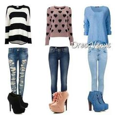 I'm in love with comy long sleeved shirts, almost like sweatshirts! Plus I LOVE the shoes especially the pink ones.