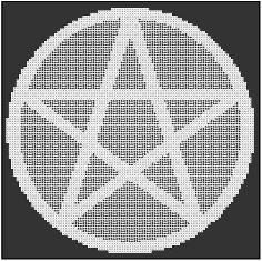 Pentacle Alter Cloth Round Fillet Crochet by crochetcronesdesigns, $3.00