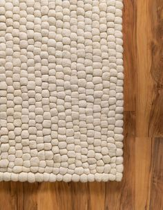 Ivory 8' x 10' Felt Ball Rug | Rugs.com Denim Rug, Felt Ball Rug, Solid Rugs, 5x7 Rugs, Modern Traditional, Jute Rug, Carpet Flooring, Natural Rug, Large Rugs