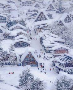 Photo via @halkun1121 Winter Szenen, Winter Love, Winter Magic, Winter Holidays, Winter Christmas Scenes, Christmas Time, Japan Tag, Destination Voyage, Snow Scenes