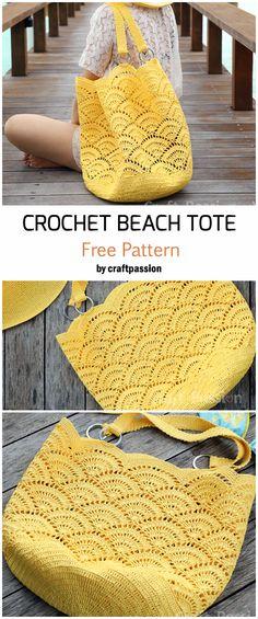 Beach Tote - Free Pattern - häkeln/taschen u. körbe - Crochet Beach Tote - Free Pattern - häkeln/taschen u. körbe - Best 11 Toque na imagem para baixar gráficos totalmente grátis Beach Tote Crochet Pattern Crochet Beach Bags, Crochet Market Bag, Crochet Diy, Crochet Tote, Crochet Handbags, Crochet Purses, Crochet Crafts, Crochet Doilies, Crochet Placemats