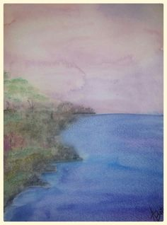 Watercolor original by Amy Botz.