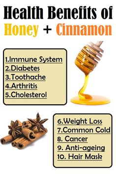 10 Health Benefits of Honey and Cinnamon.. Cinnamon Benefits, Honey Benefits, Health Benefits, Holistic Remedies, Herbal Remedies, Health Remedies, Health And Wellbeing, Health And Nutrition, Natural Cures