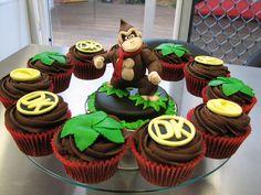 Donkey Kong Cupcakes.