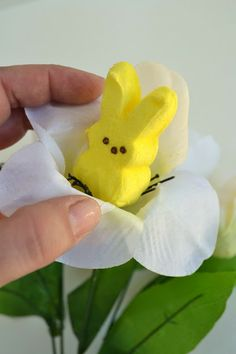 *Everything's Coming Up {PEEPS} Bunnies Bouquet ~ A Dollar Store DIY