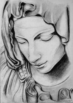 Pieta - Creative Art in Sketching by Vyankka PinkRock in Portfolio Drawings at Touchtalent