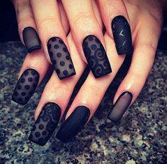 1 lace nail art