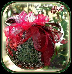 Made to Order - Christmas Tree Ornament Patchwork - Christmas Home Decor - Reddish Purple - Green