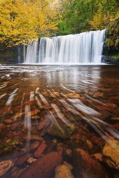 """Fall - Upper Ddwli"" Brecon Beacons National Park, Wales"