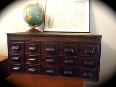 Vintage Library Card Catalog File Cabinet by VidaliasVintage, $390.00  for my dream library!