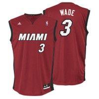 Miami Heat - Maillot NBA Dwyane Wade rouge adidas
