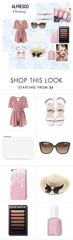 """""""Alfreso Dining"""" by braceface04 ❤ liked on Polyvore featuring Miss Selfridge, Maison Margiela, Linda Farrow and Essie"""