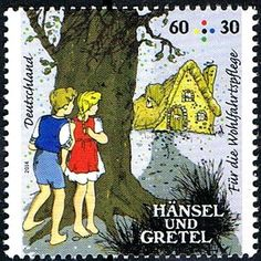 Briefmarke: The Babes in the Wood (Deutschland (BRD)) (Welfare: Grimm's Fairy Tales - Hansel and Gretel) Mi:DE 3056