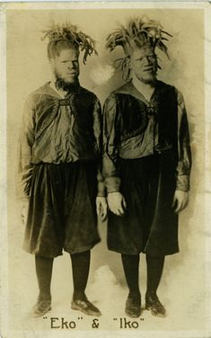 The Muse brothers were born in Roanoke, Virginia during the end of the  1890's.  In 1899, the pair was kidnapped by bounty hunters working for an  unknown sideshow promoter.  They were seen as an extremely lucrative  attraction, as they were black albinos.