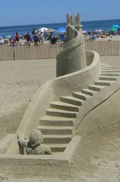 Sand sculpture - photo by Jean L. from Keene, NH, via ellen.warnerbrothers