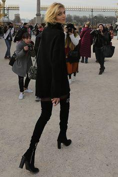 Anja Rubik na Tygodniu Mody w Paryżu! (ZDJĘCIA)