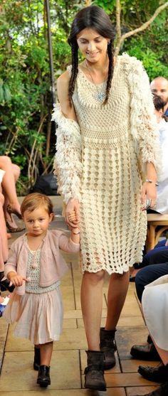 Ryan Roche Ivory Crochet Dress (Miranda Kerr)