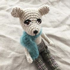I have been working on this polar bear quite a long time and now it is finally done. Polar Bear, Teddy Bear, Amigurumi Doll, Then And Now, Crochet, Animals, Instagram, Chrochet, Animales
