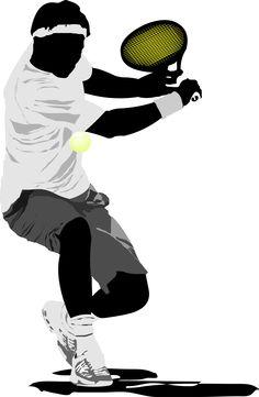 Tennis player. Vector illustration.