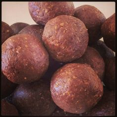 Bee Pollen Bliss Balls- also has great links to spirulina balls, protein balls, and info about health benefits of bee pollen