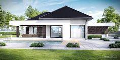 Projekt domu HomeKONCEPT 32 by HomeKONCEPT Single Floor House Design, House Roof Design, House Outside Design, Best Modern House Design, Small House Design, Facade House, Sims House Plans, House Layout Plans, Bungalow House Plans