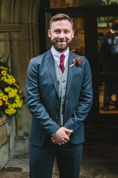 WWW readers Elizabeth and Patrick had a gorgeous autumn wedding on Friday October 2016 at Thornbridge Hall in Derbyshire. They really wanted a relaxed day Autumn Wedding, Wedding Men, Harris Tweed Waistcoat, Groom And Groomsmen Suits, Groom Style, Suit Fashion, Autumnal, Cosy, Ted Baker