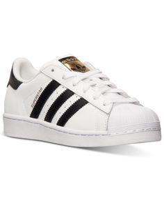 adidas Boys' Superstar Casual Sneakers from Finish Line - White