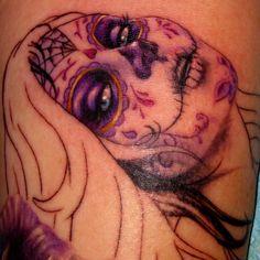 """Beautiful """"sugar skull"""" tattoo"""
