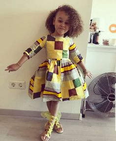 Ankara Styles For Kids; Little Girls And Baby Girls Ankara Styles Baby African Clothes, African Dresses For Kids, African Children, African Print Dresses, African Inspired Fashion, Latest African Fashion Dresses, African Print Fashion, African Attire, African Wear