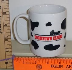Boomtown Casino Biloxi Mississippi Moo Juice Advertising Coffee Mug Cup