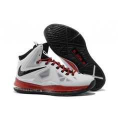2cd8a5a0c992 Nike Air Max LeBron James X 10 Miami White Black Basketball shoes