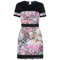 Buy French Connection Mineral Pool Fringe Dress, Summer White Multi Online at johnlewis.com