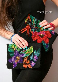 Torebka# bag#filcowanie #felting #nunofelting