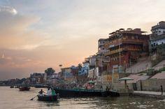 Sunrise on the Ganga, Varanasi, India #india #travel #Kamalan #culture #photo #Varanasi #Ganga #Ganges #Benaras