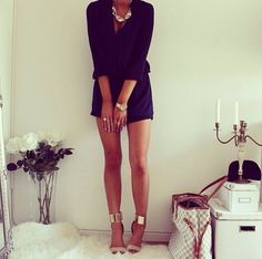 little black romper - check  Now I just need those shoes and that necklace! <3